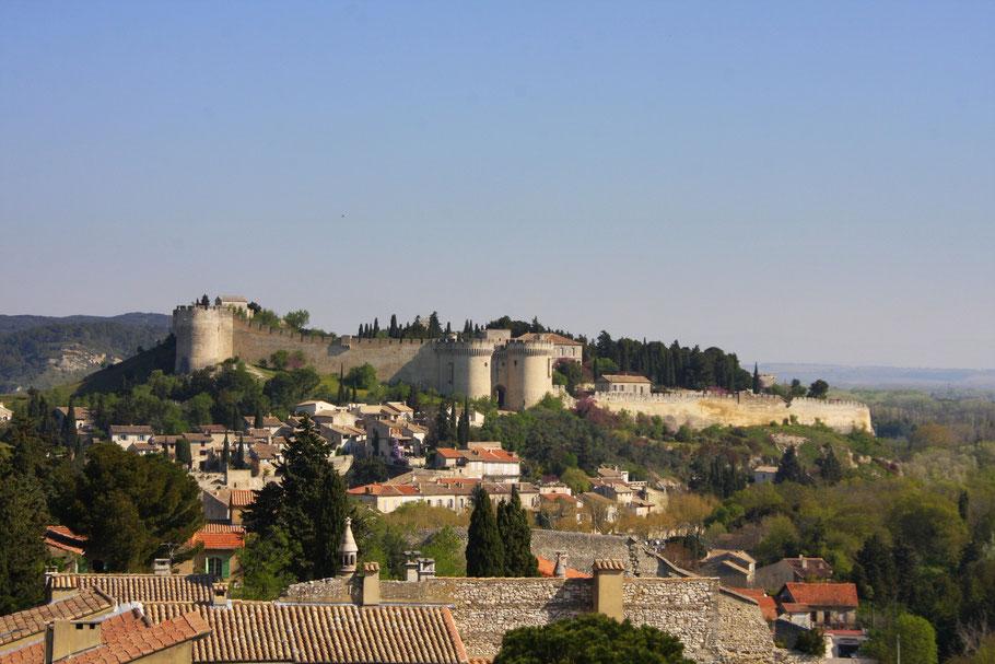 Bild: Blick vom Tour de Philippe le Bel auf Fort Saint Andre in Villeneuve les Avignon