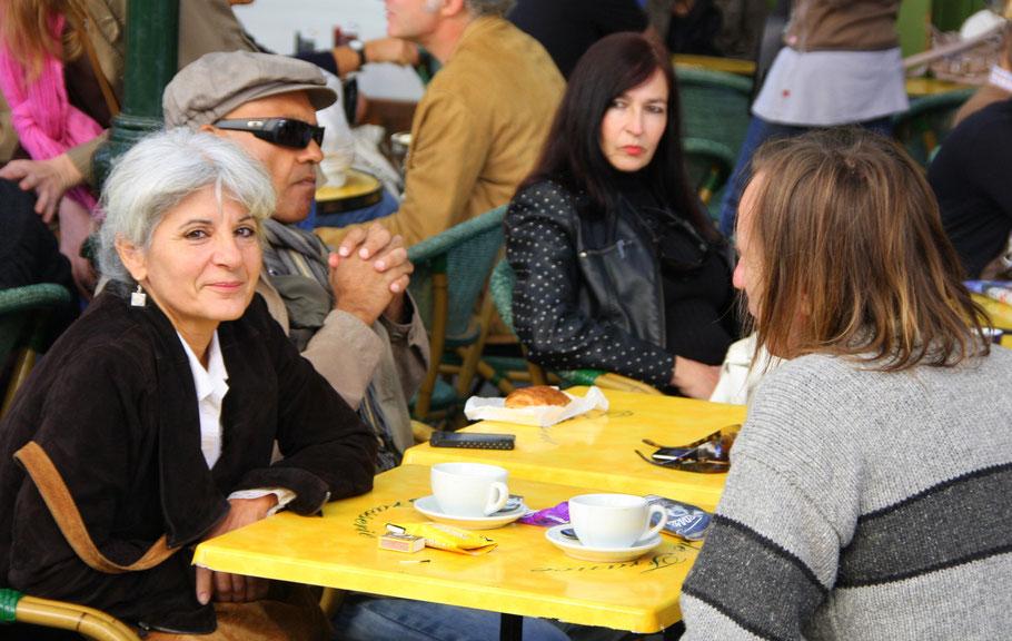 Bild: Im Februar im Cafe de France in L´Isle-sur-la-Sorgue, Vaucluse, Provence