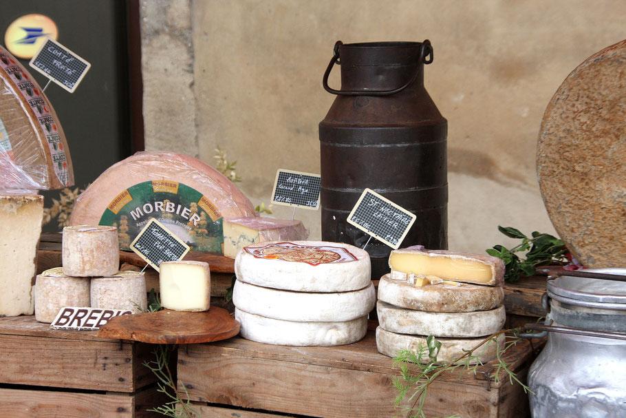 Die Vielzahl der angebotenen Käse