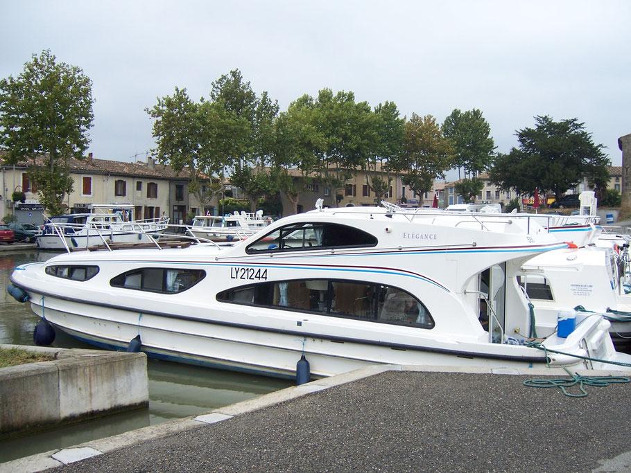 Bild: Hausboot auf dem Canal du Midi