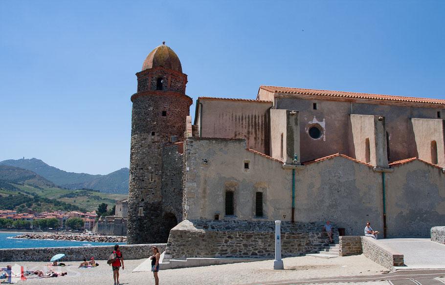 Bild: Collioure mit Kirche Notre Dame des Anges