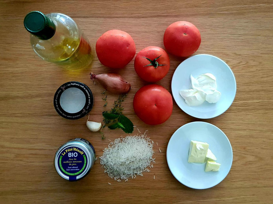 Bild: Rezept für Tomate farcie au Pâté Hénaff