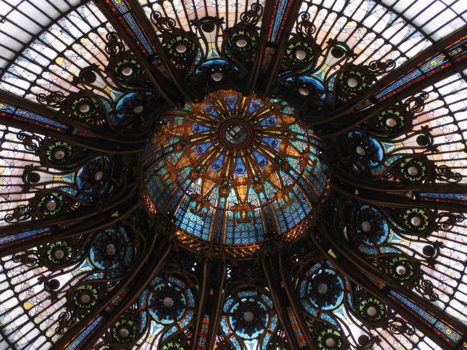 Bild: Kuppel in der Galerie Lafayette in Paris