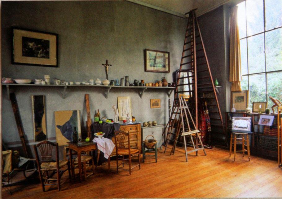 Bild: Postkare des Atelier von Paul Cezanne