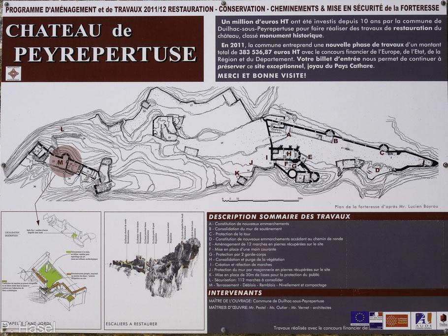 Bild: Plan des Château de Peyrepertuse