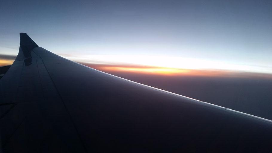 vliegtuiguitzicht