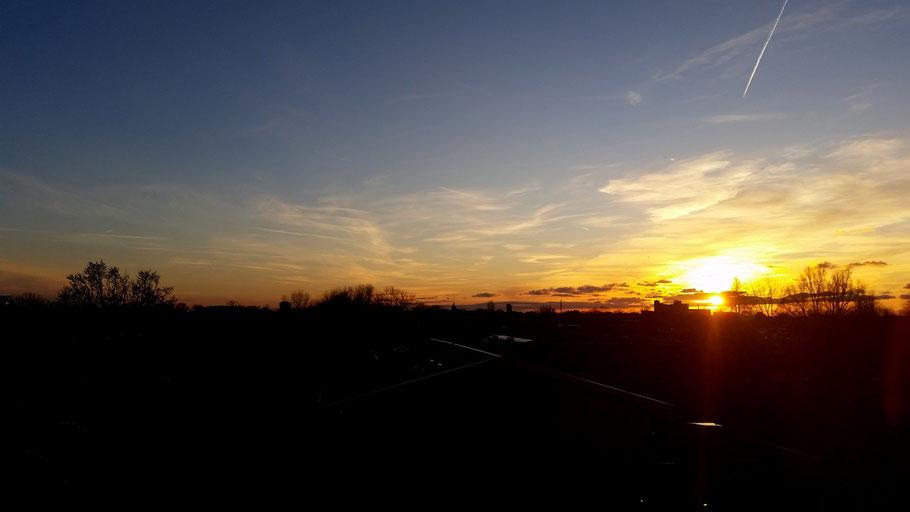 Zonsondergang Zuid-Holland