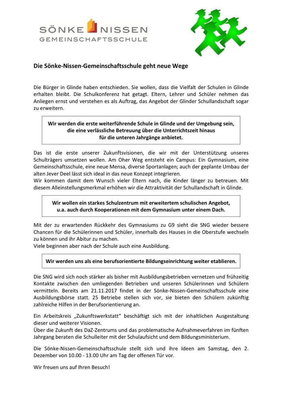 Fusion gescheitert, was nun? - Sönke-Nissen-Schule geht neue Wege ...