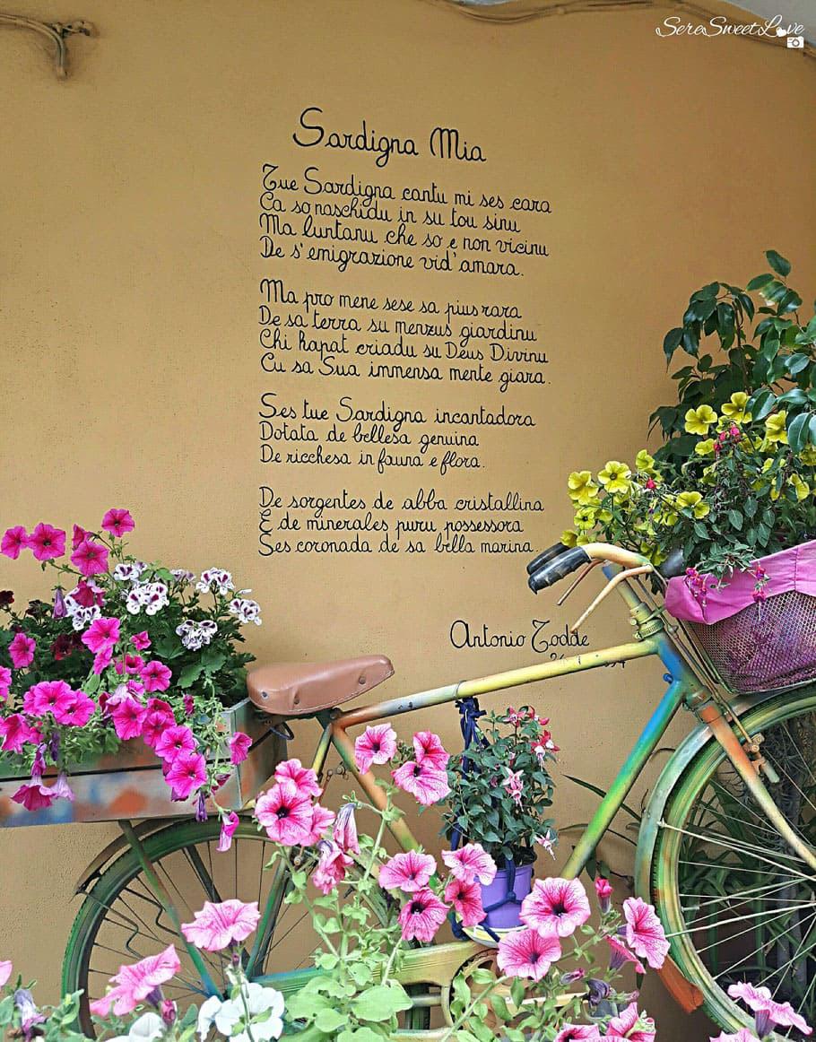 Murales poetico per le vie di Siniscola di Antonio Todde, Siniscola ( Nu), Sardegna 2018, Sardinia, Italy