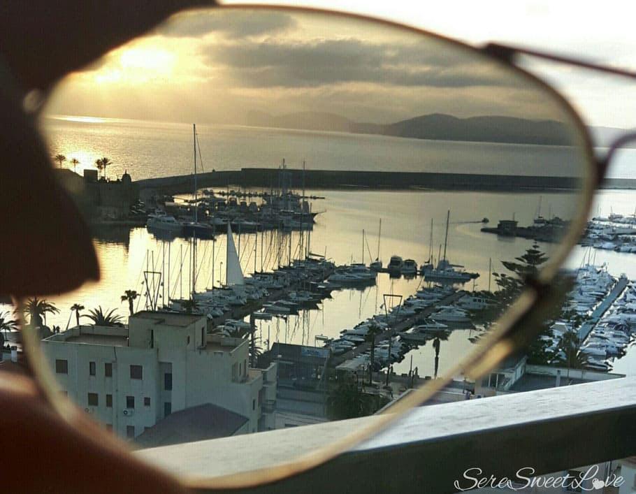 Vista sul Porto di Alghero tramite occhiale polarizzato, Sardegna, Sardinia