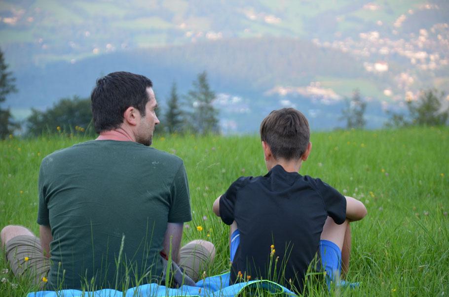 Der Blick von unserem Zeltplatz auf Kitzbühel
