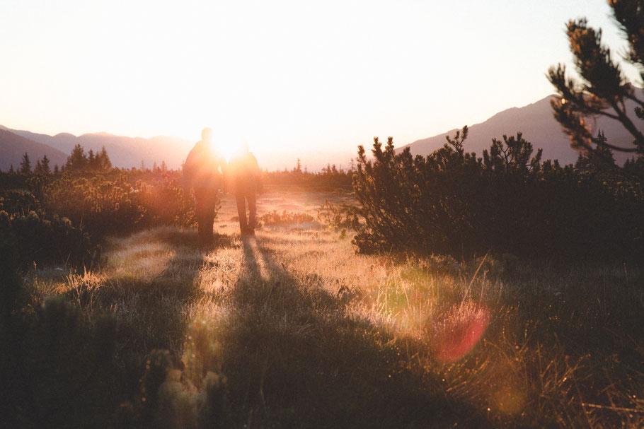 Urlaub Vater Sohn Wochenende Tirol Kitzbühel Vater Sohn Männers Sonnenuntergang Sonnenaufgang Erleben Freiheit