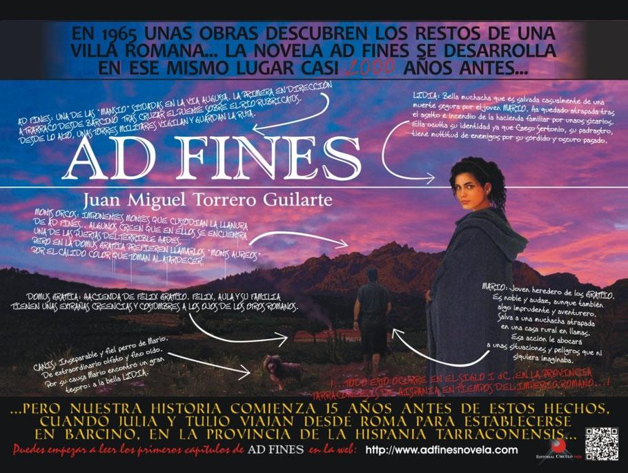Cartel promocional de la novela Ad Fines (2013)