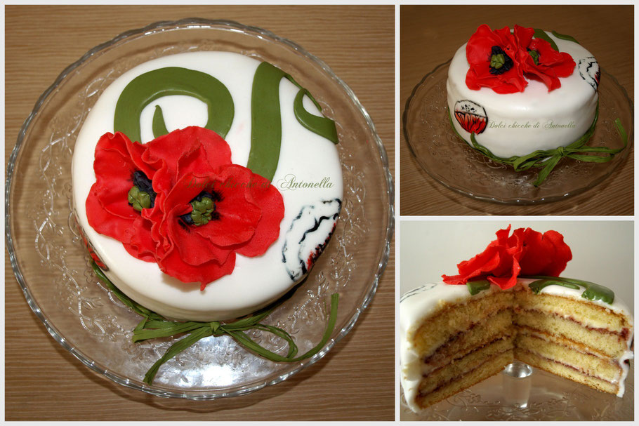 torta papaveri- dolci -torte- fiori -liguria- la spezia