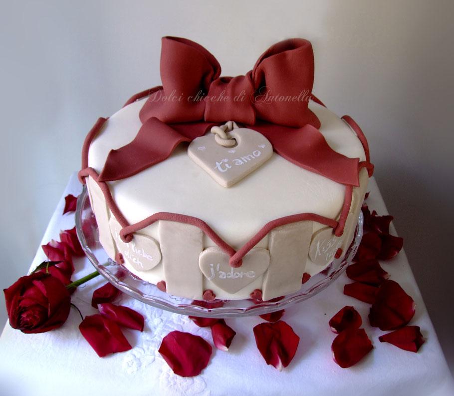 torta san valentino-love-rose-la spezia-liguria-dolci