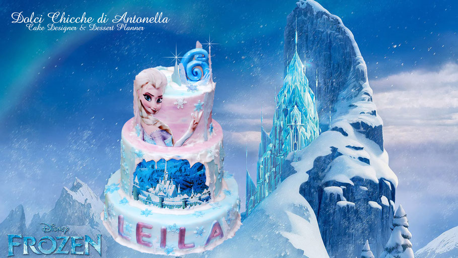 torta frozen- elsa anna-dolci-torte decorate-la spezia-liguria-compleanno