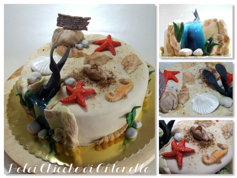 TORTA SUB MARE-dolci-la spezia-liguria-torte decorate