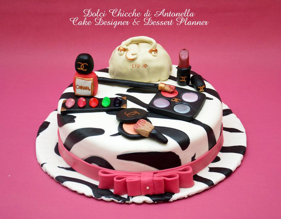 torta fashion-trucchi-estetica-torte compleanno-liguria-la spezia-eventi-feste