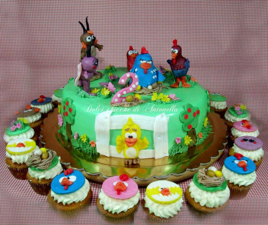 galinha pintadinha-torte compleanno-liguria-la spezia-eventi-feste-cupcakes