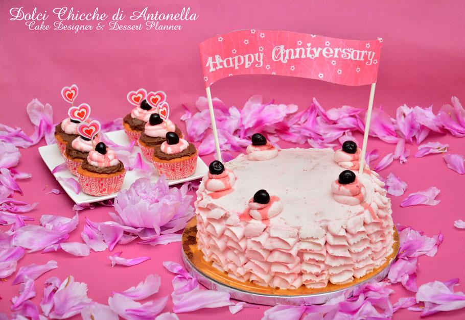 torta amarene cupcakes anniversario la spezia liguria
