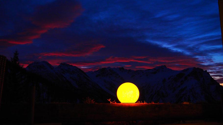 Berggasthaus Wasenalp, Sonnenuntergangsstimmung