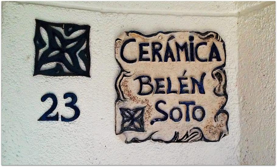 Cartel y logo de Cerámica Belén Soto