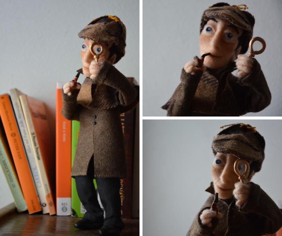 La bambola artistica che ho realizzato di Sherlock Holmes, ora è in Israele.