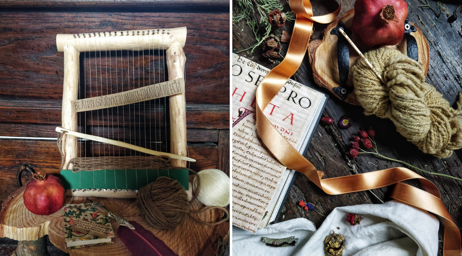 Elena's loom and wool