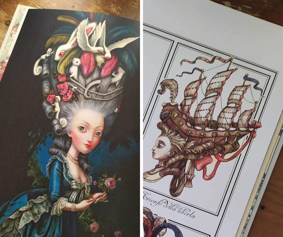 Marie Antoinette by Benjamin Lacombe