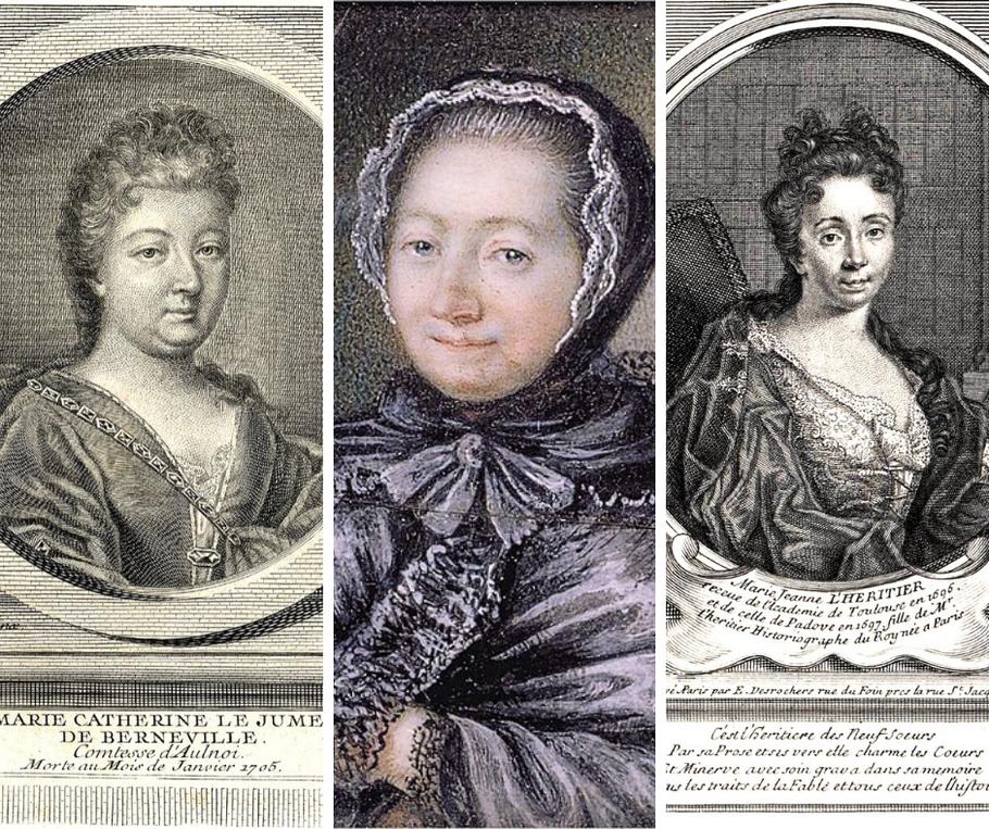 Da sinistra a destra: Madame de Aulnoi, Jeanne Marie Leprince de Beaumont, Marie Jeanne L'Heritier