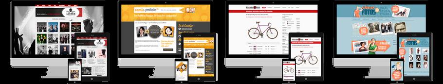 Beispiele gestalteter Webseiten von Mein Freund, Jimdo Expert Bremen