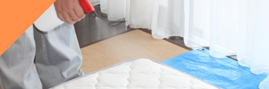 ベッドマットレスクリーニング:抗菌剤の噴霧