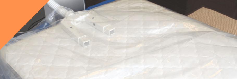ベッドマットレスクリーニング:マット表面の乾燥処理