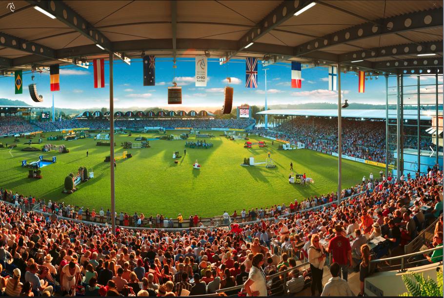 Panoramablick in das Hauptstadion. Foto CHIO Aachen/Andreas Steindl