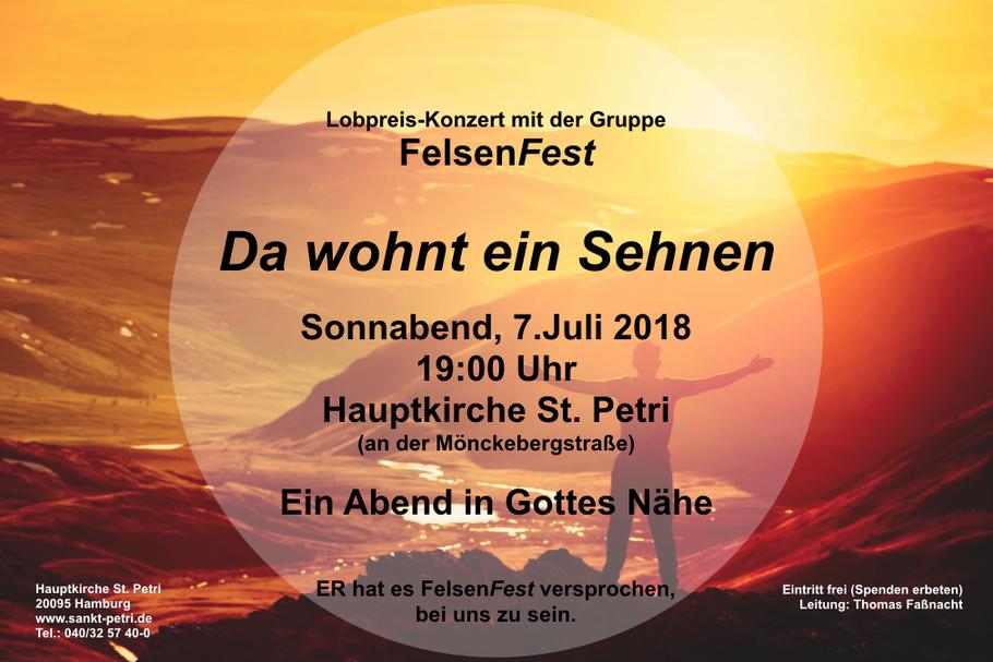Konzert St. Petri Hamburg. Leitung: Thomas Fassnacht.  mit Flötistin Rike Reichert