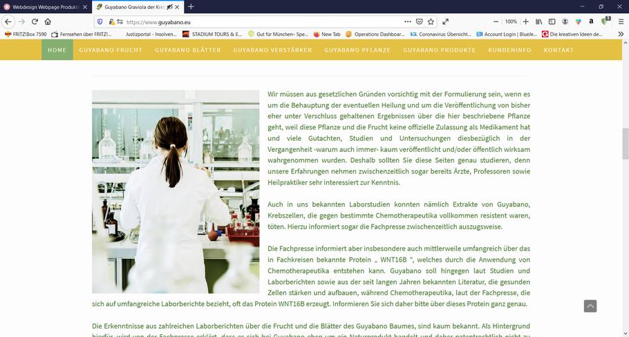 EazyBioLive and Vital GmbH * Natürliche Graiviola Produkte