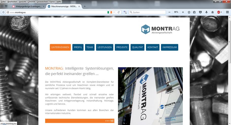 MONTRAG Aktiengesellschaft * Maschinenverlagerung Schwertransporte