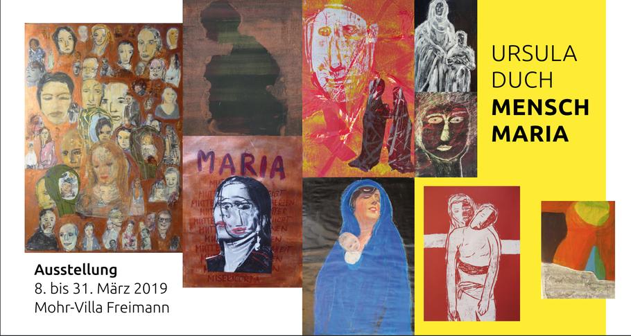 Ausstellung Mensch Maria von Ursula Duch in der Mohr-Villa in Freimann. Vernissage: Donnerstag, den 7. März um 19 Uhr