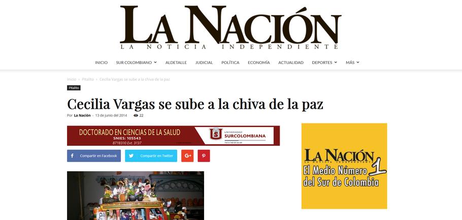 Cecilia Vargas Muñoz en La Nacion