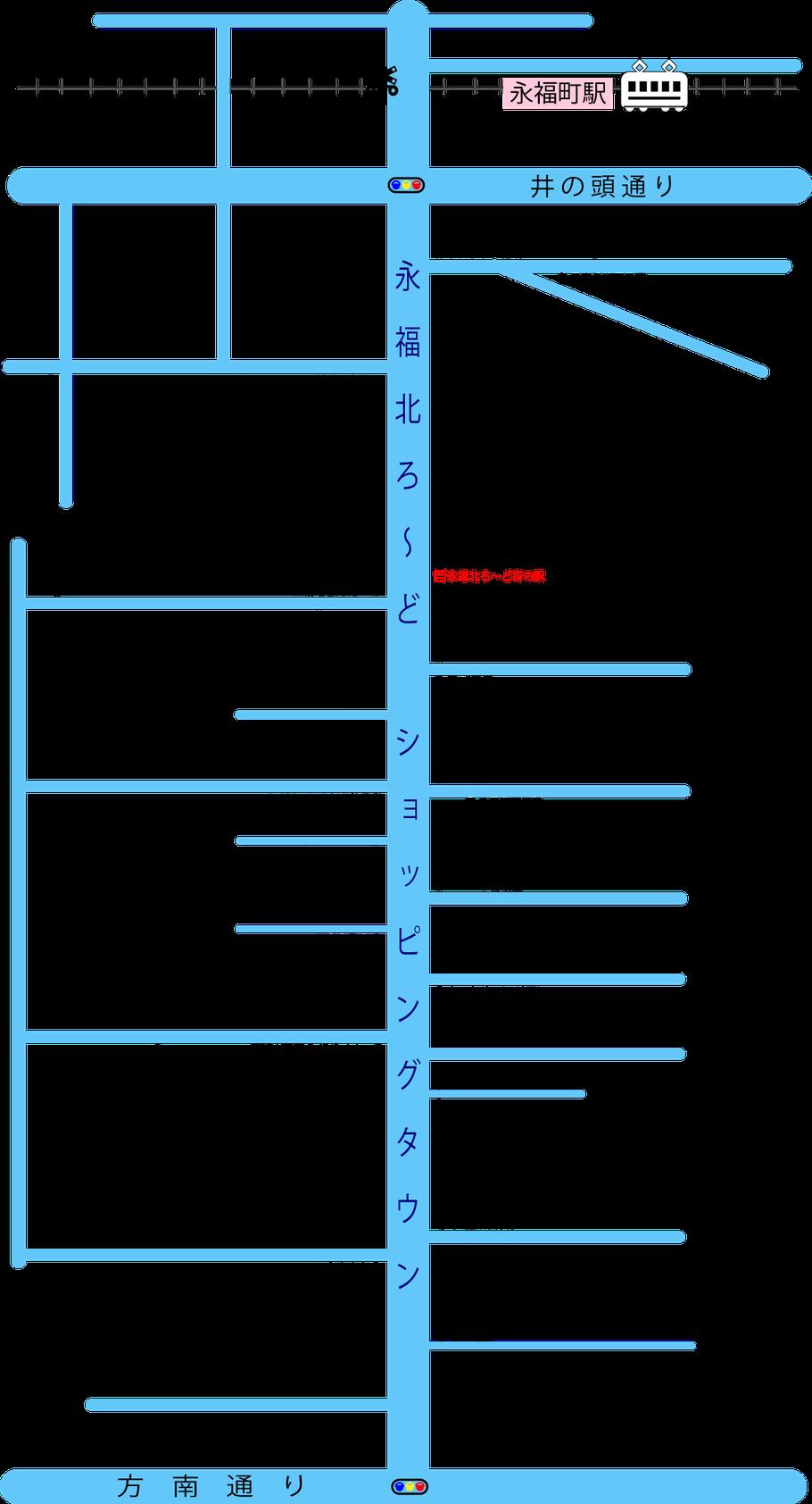 永福町商店街マップ