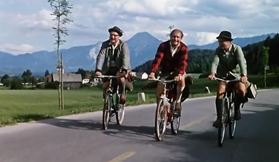 Klicke auf Heinz Erhardt und erlebe das Radeln in seiner Urform!