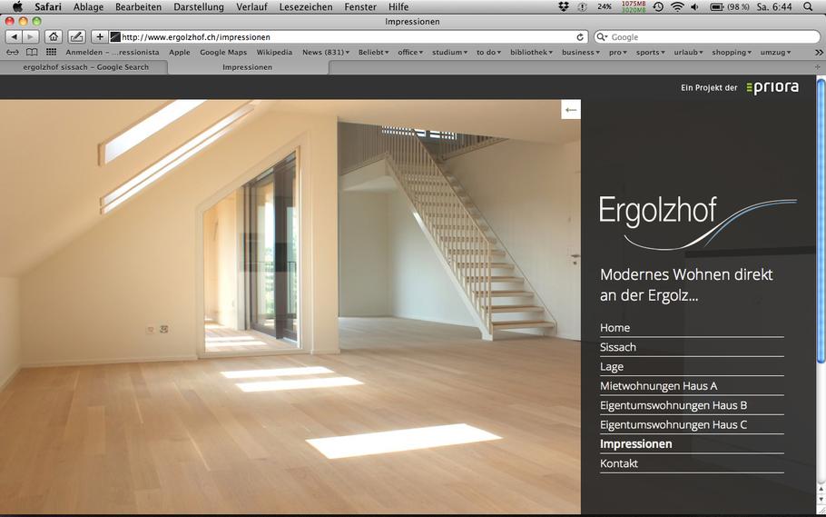 Screenshot www.ergolzhof.ch