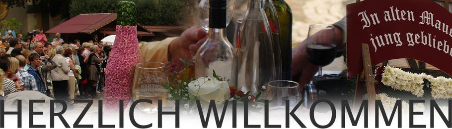 Herzlich willkommen zum Weinfest in Ahrweiler und den weiteren Weinfesten an der Ahr.