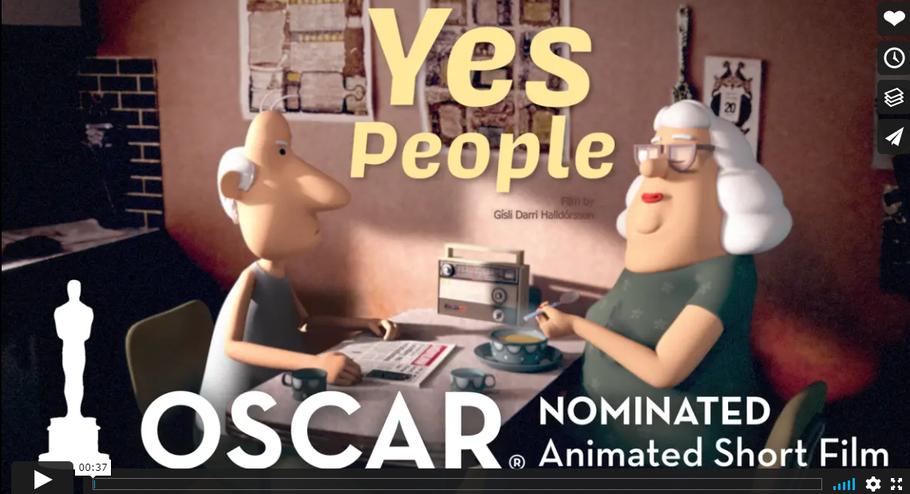 """Trailer zum Oscar-nominierten isländischen Kurzfilm """"Já-fólkið"""". Screenshot: Youtube"""