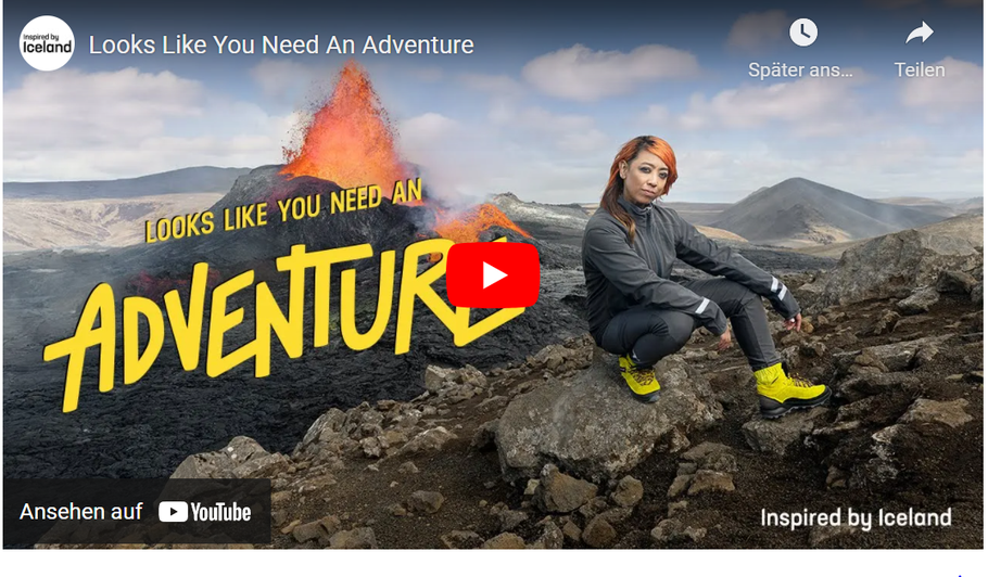 """Youtube-Video zur Kampagne """"Looks Like You Need An Adventure"""". Video und alle Bilder von Inspired by Iceland"""
