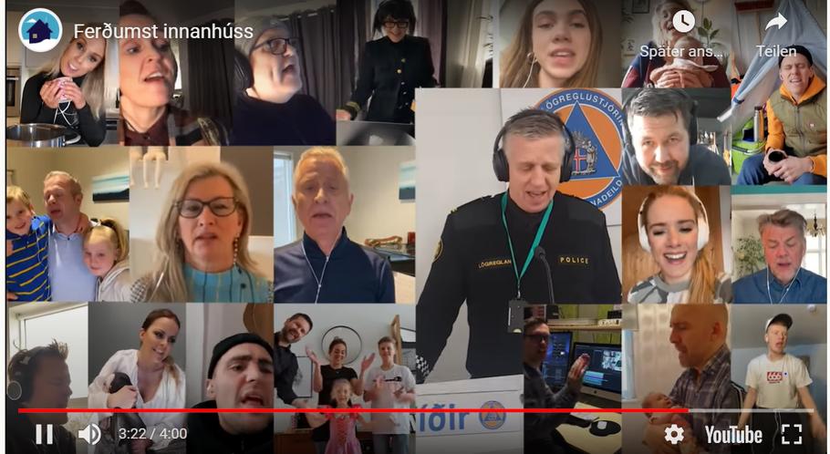 Video von dem Mini-Konzert. Screenshot: Youtube.