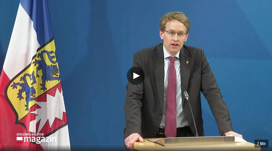Ministerpräsident Günther hat neue Corona-Regeln bekanntgegeben (Foto: NDR-Screenshot)