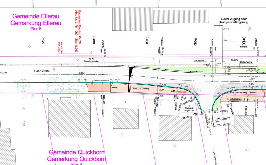 So soll der Fußgängerüberweg am Bahnhof Ellerau einmal ausssehen