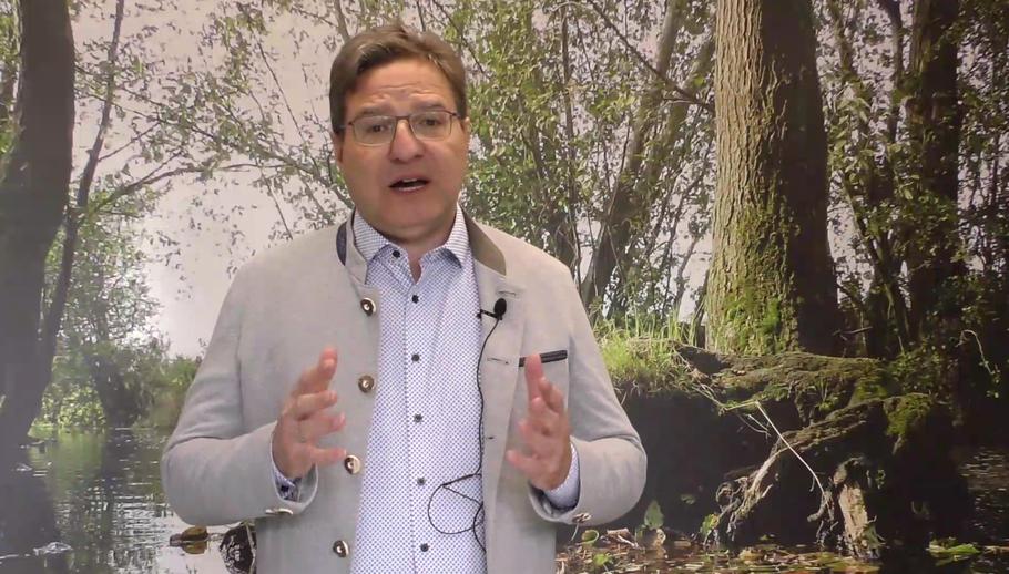 Bürgermeister Thomas Köppl informiert per Video zur Corona-Krise (Foto: Screenshot)