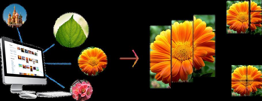 Модульные картины, которые создаются прямо на сайте